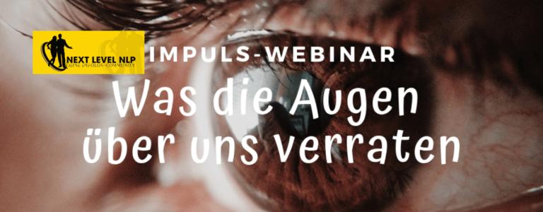 Webinar zum Thema Coaching mit Hilfe von Augenzugangshinweisen