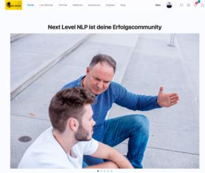 Next-Level-NLP-Club-Startseitenansicht