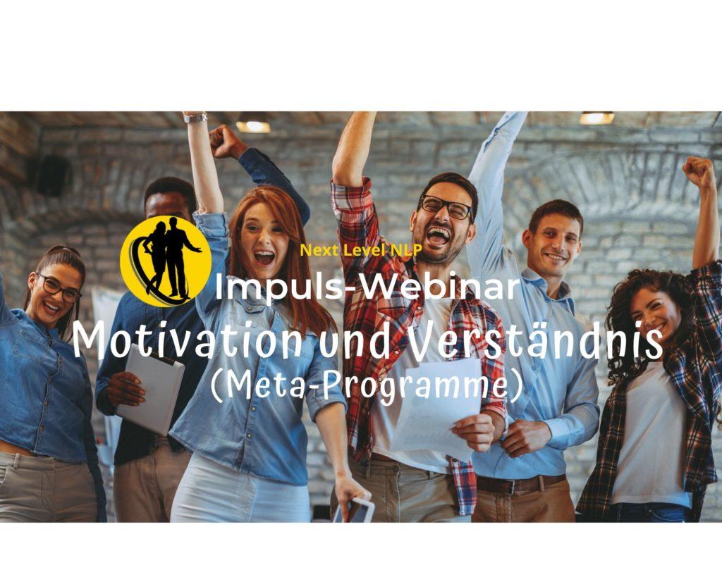 Metaprogramme für Motivation und Verständnis - Webinar